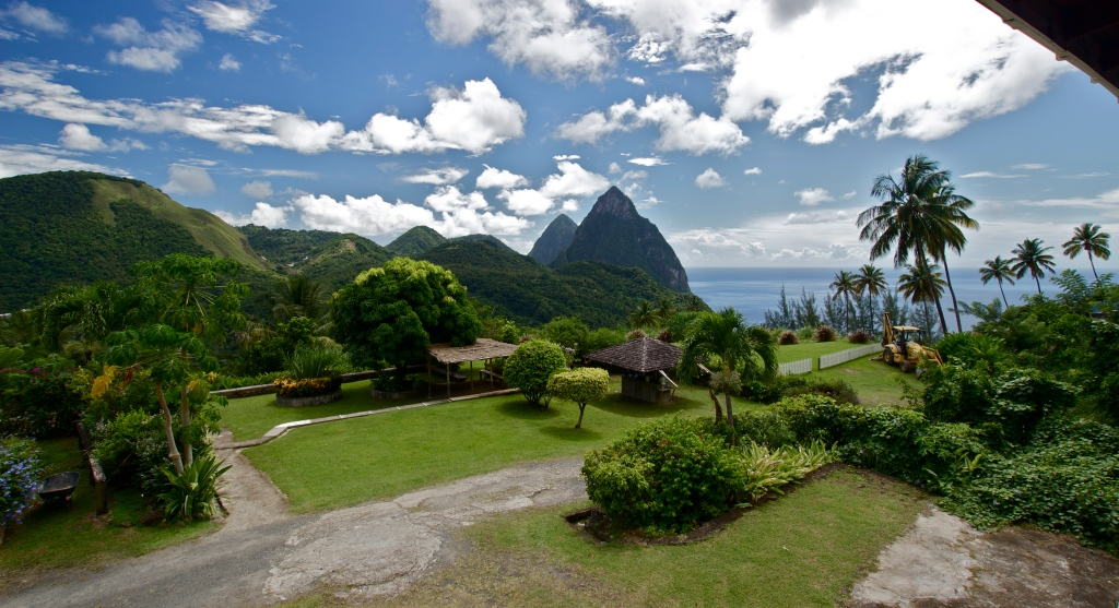 Day 2: View from my Cocoa Superior Deluxe Room at La Haut Resort in Soufriere. Woke up on the edge of the world for six days. Magnificent. Sigma 10mm, f/8, 1/100, ISO 100