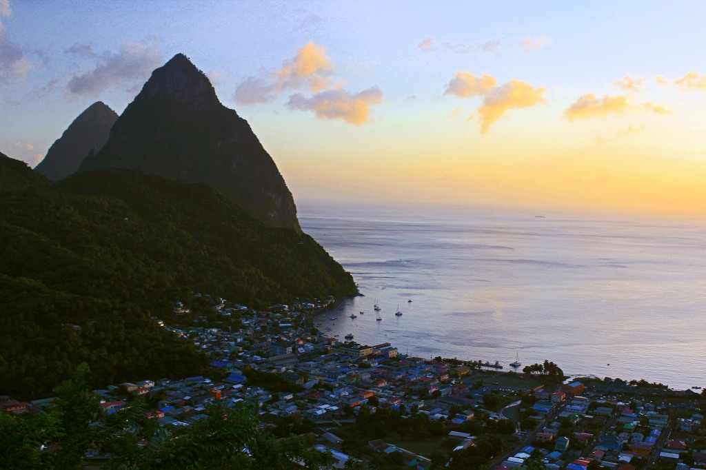 One of many versions of Soufriere. I need to keep tweaking color correction-I'd love to keep the roof tops saturated, but not have the hillside and sunset so grossly colorful. A work in progress...