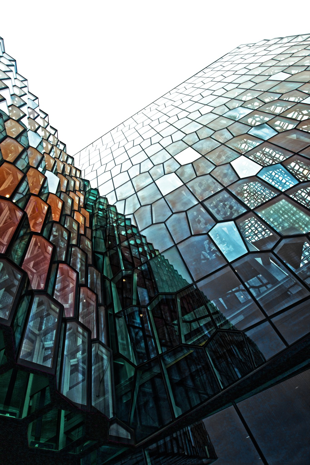 Harpa Concert Hall...informally referred to on our trip as the Opera House. Perched overlooking the Northern Atlantic Ocean-it's a stunning facade on the edge of the city. Extra treat: Lit up at night with varying LED displays. Canon T3i, Sigma 11mm, ISO 100, f/5, 1/80
