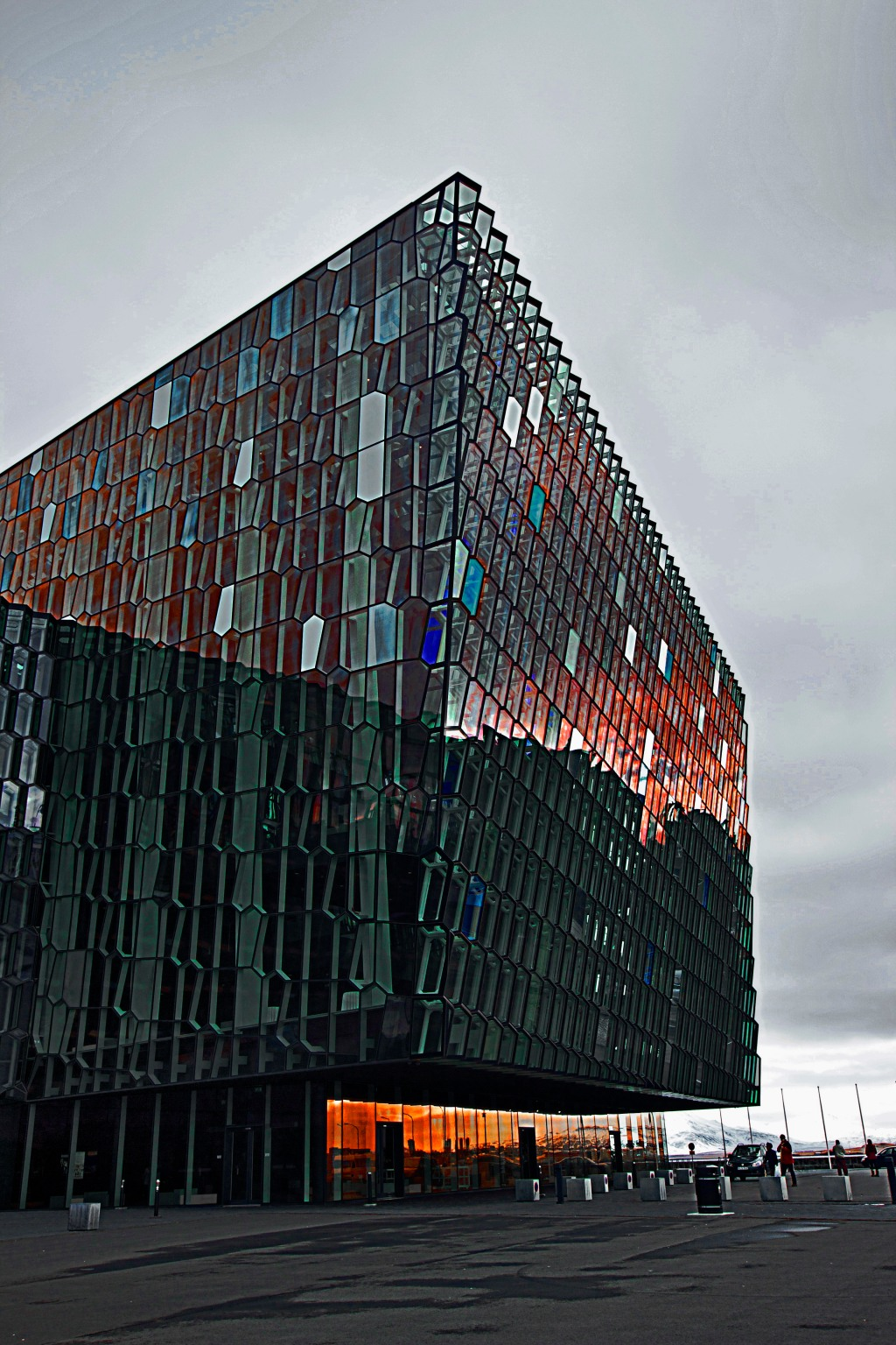 Harpa Concert Hall, Reykjavik. Saturation boosted in PS