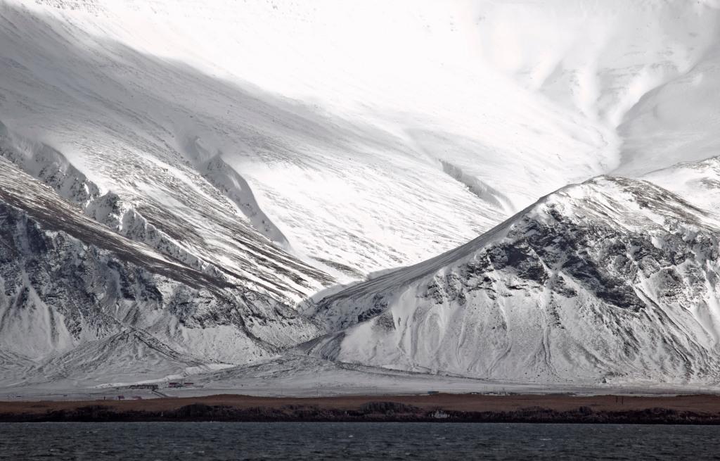 As seen across the Northern Atlantic, Reykjavik