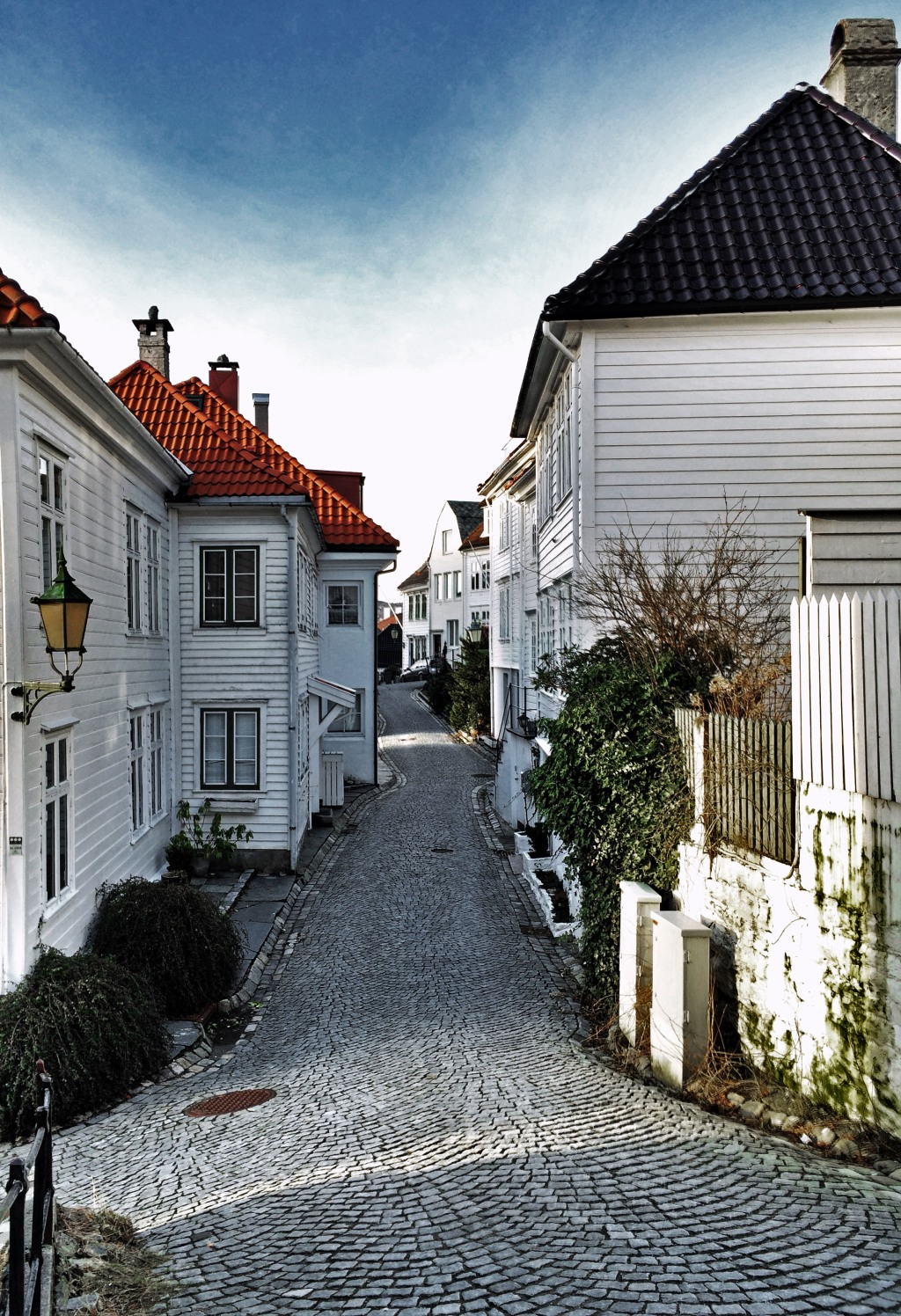 The cobblestone streets of Bergen, Norway. iPhone 5. ProHDR app.