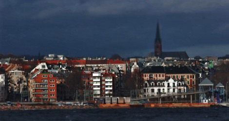 Oslo, Norway. As shot from behind the Fram Polar Ship Museum. Canon T3i. Canon 146mm. f/22. 1/40. ISO 100