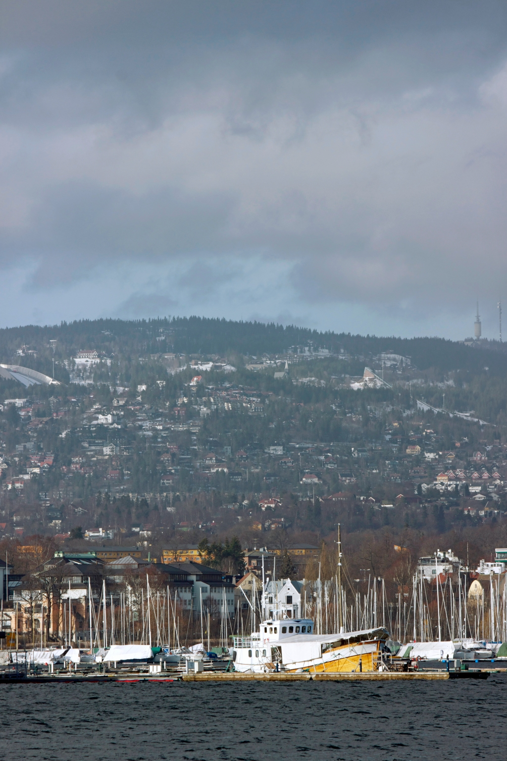 Oslo, Norway looking toward the Holmenkollen ski jump---utilized during the 1952 and 1994 olympics. Canon T3i